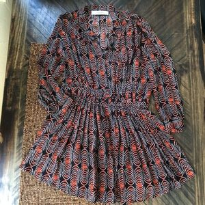 tHAKOON 100% Silk Ikat Dress Pleated Skirt NWOT 8